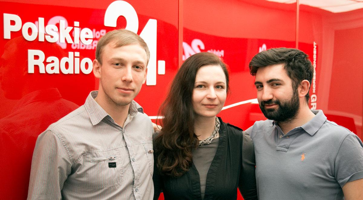 W Polskim Radiu 24 (od lewej): Roman Korbut,  Jelena Żminko, Gagik Grigorian  Fot. PR24/WT