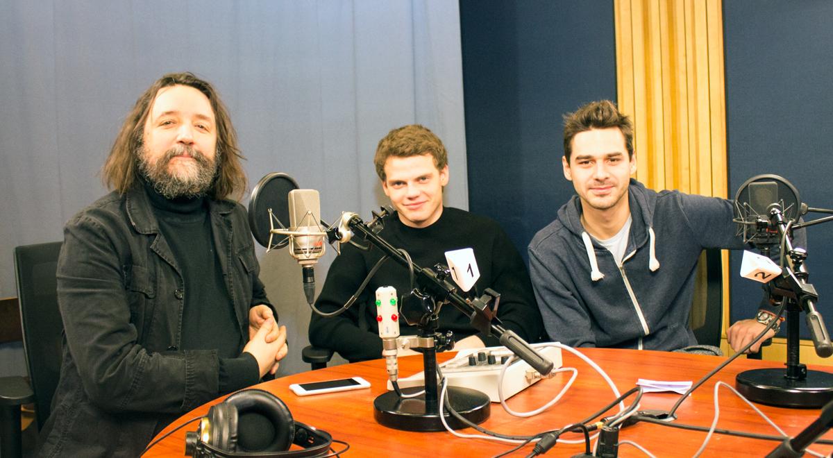 Od lewej: Mariusz Grzegorzek, Jędrzej Wielecki i Miłosz Karbownik