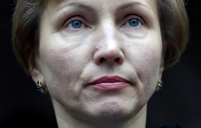 Wdowa Marina Litwinienko; fot. PAP/EPA/FACUNDO ARRIZABALAGA