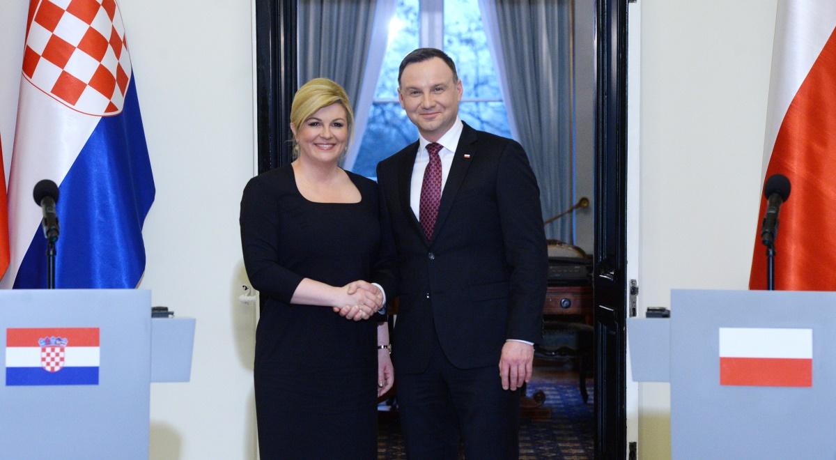 Prezydent Andrzej Duda oraz prezydent Chorwacji Kolinda Grabar ...