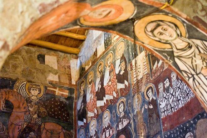 Freski w klasztorze Mar Musa, fot. Flickr/Artistically/Public Domain