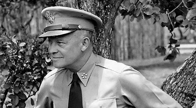 Gen. Dwight D. Eisenhower, Wikimedia Commons źr.: US Army domena publ.