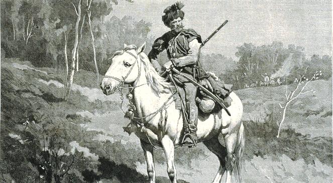 Lisowczyk na pikiecie. Rycina zamieszczona na Tygodniku Powszechnym w 1882 roku.