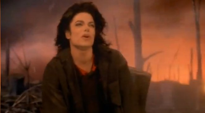 Michael Jackson w teledysku do piosenki Earth Song