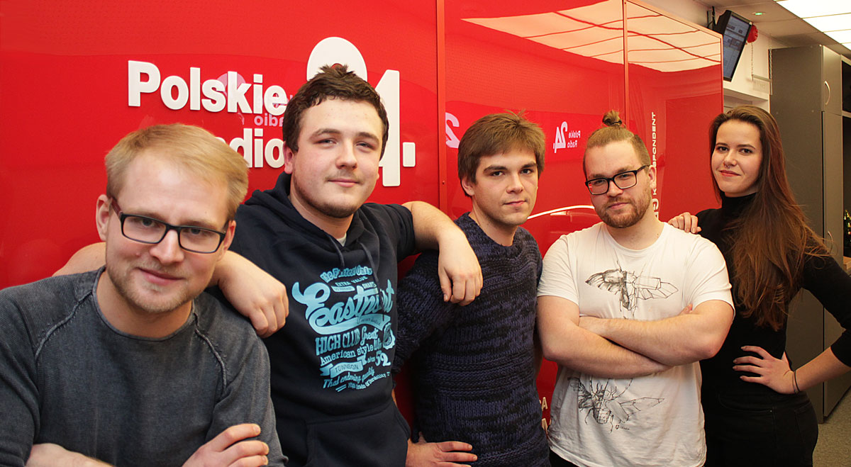 Goście audycji: Maciej Gutowski, Jakub Januszewski, Bartosz Wesołowski, Jakub Nurzyński i Manuela Bagińska, foto: PR24