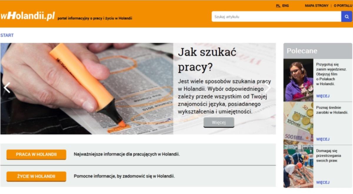 Holandii polskie strony w STANTRANS