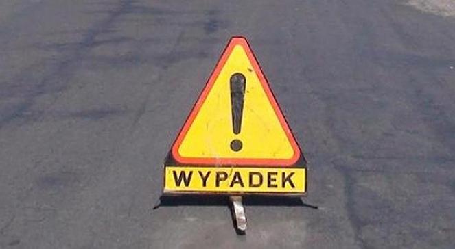 Karambol na trasie Lubin - Polkowice