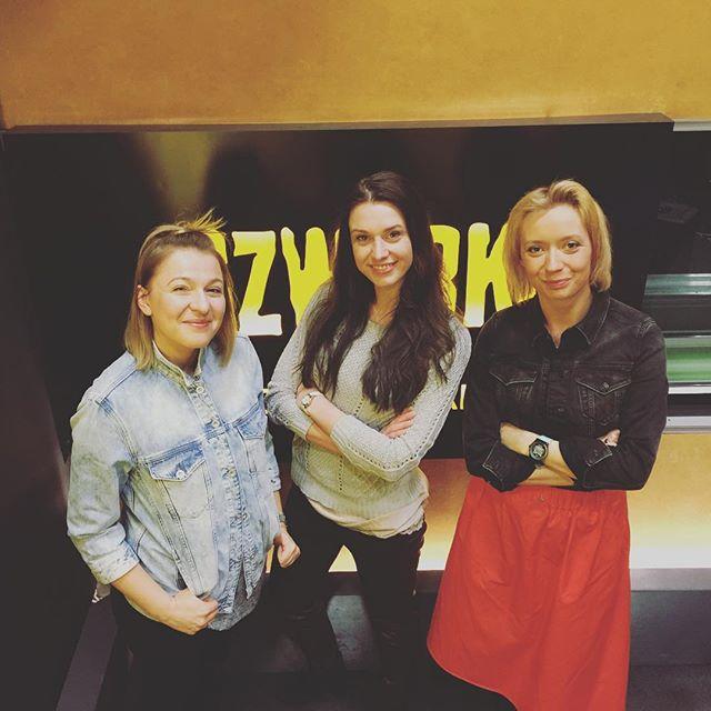 Katarzyna Dydo, Julia Kamińska i Karina Terzoni w studiu Czwórki