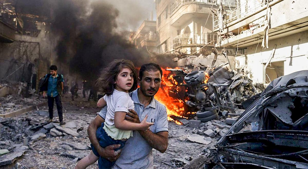 Znalezione obrazy dla zapytania bombardowania syrii - zdjęcia