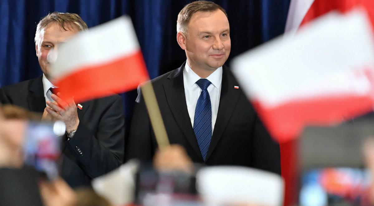 Prezydent Andrzej Duda podczas wizyty we Włoszczowie (woj. świętokrzyskie)
