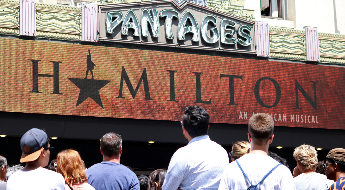 Hamilton w Pantages Theatre w Hollywood