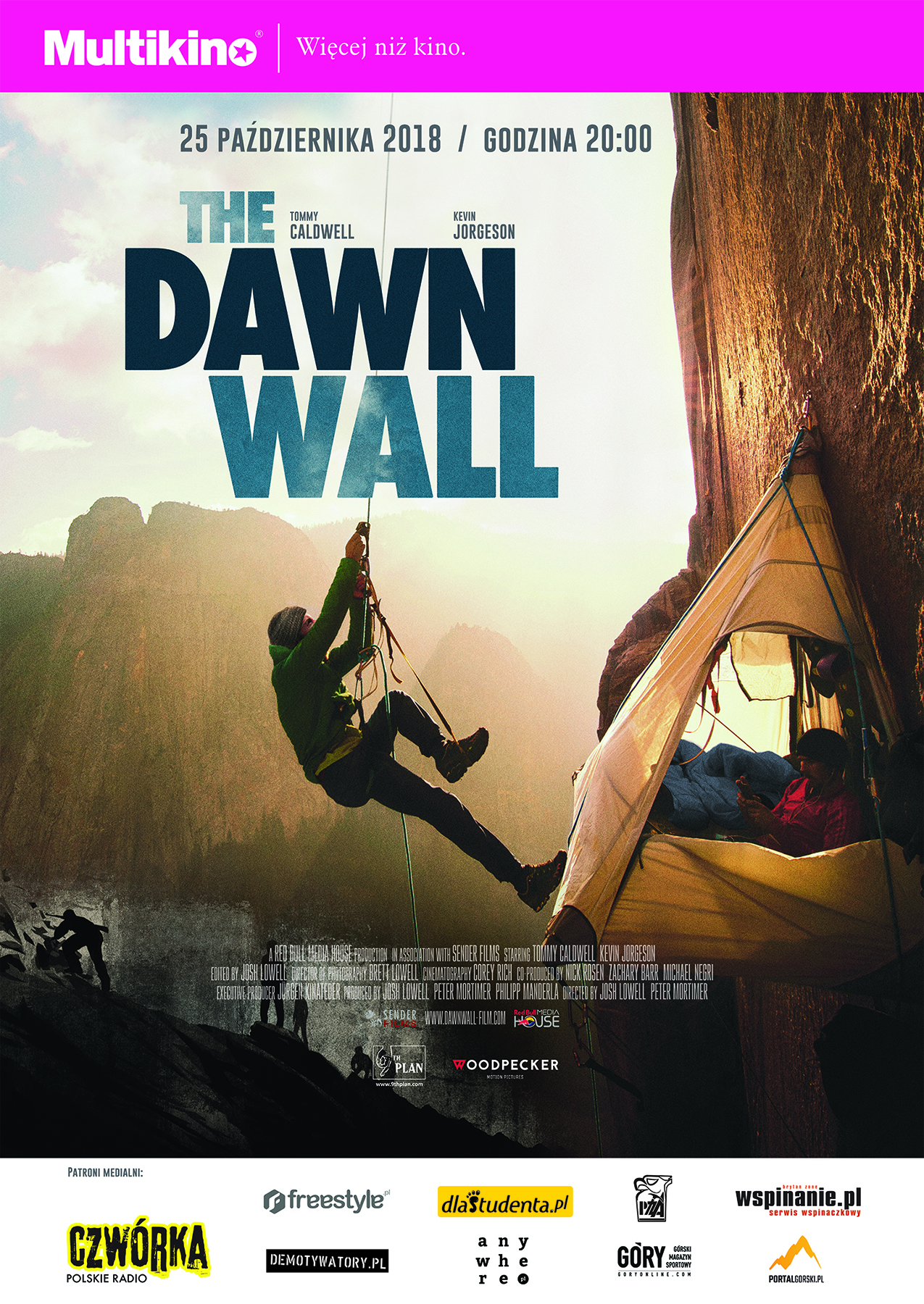 "Plakat promujący film ""The Dawn Wall"""