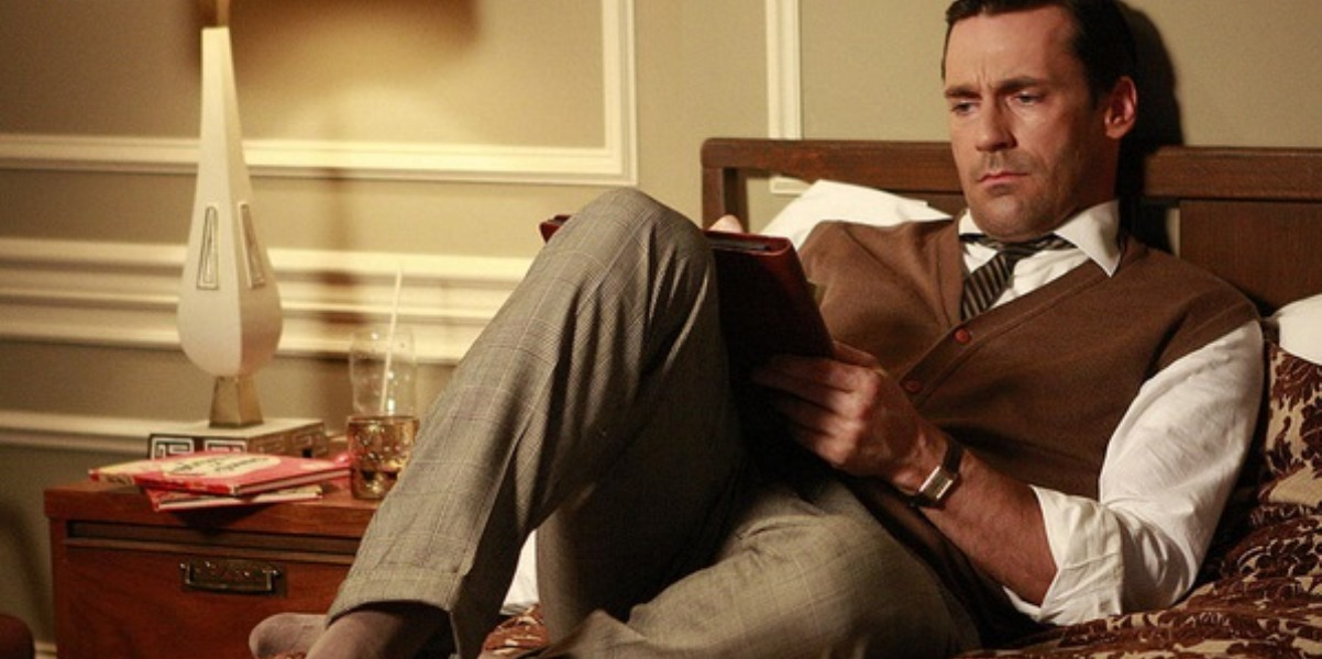 Aktor Jon Hamm w serialu Mad Men