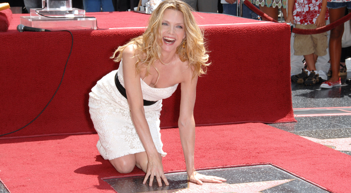 Michelle Pfeiffer w Alei Gwiazd - Los Angeles 2007 rok