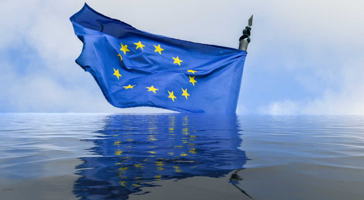 unia europejska flaga powódź klimat polityka klimatyczna 1200.jpg