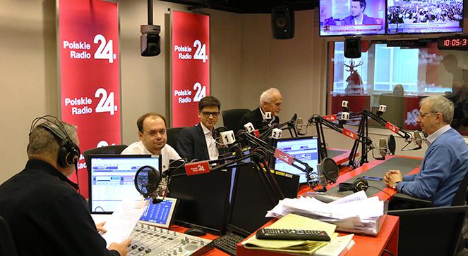 Uczestnicy debaty w studiu Polskiego Radia 24