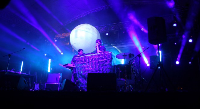 Animal Collective podczas koncertu na Jarocin Festiwal 2009