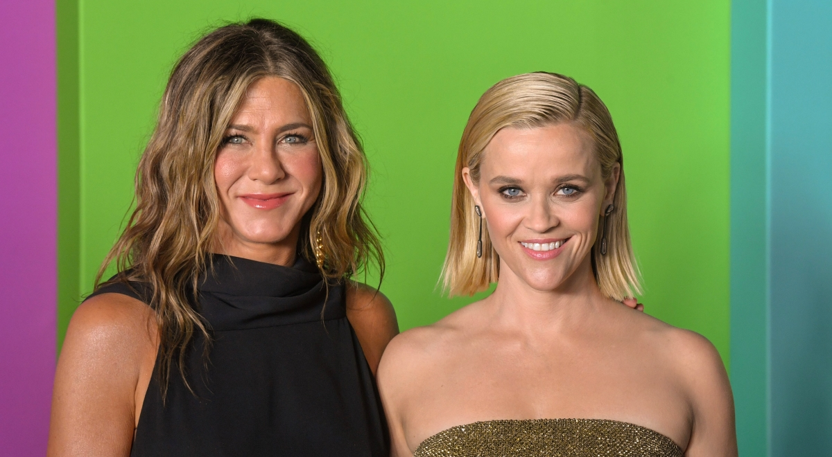 Jennifer Aniston i Reese Witherspoon podczas premiery serialu The morning show