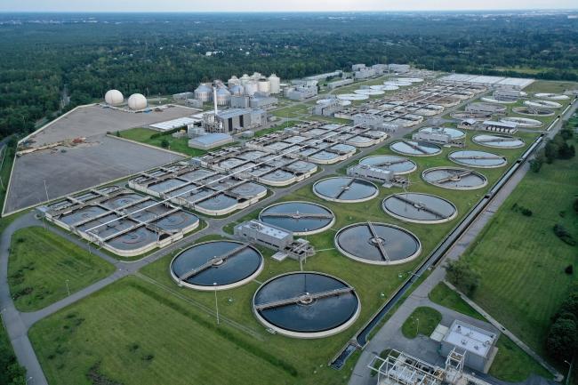 Warsaws sewage treatment plant Czajka