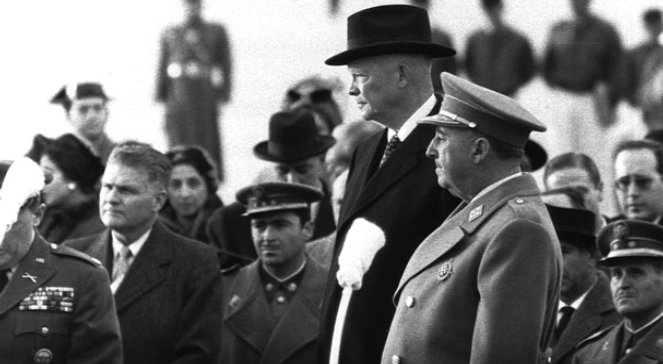 Dwight D. Eisenhower (L) i Francisco Franco (P)
