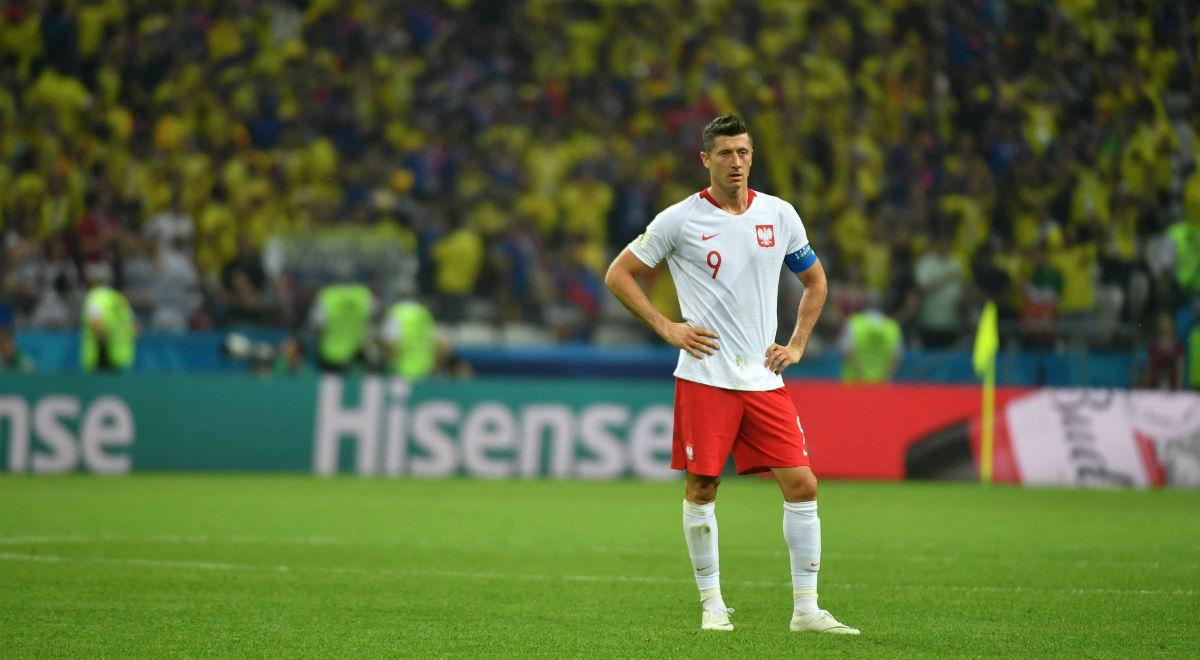 3cd960e56 Kapitan reprezentacji Polski Robert Lewandowski podczas meczu grupy H  mistrzostw świata z Kolumbią w Kazaniu