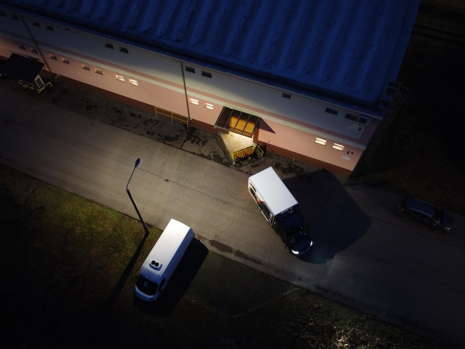 Vaccines arriving at storage facility in Poland
