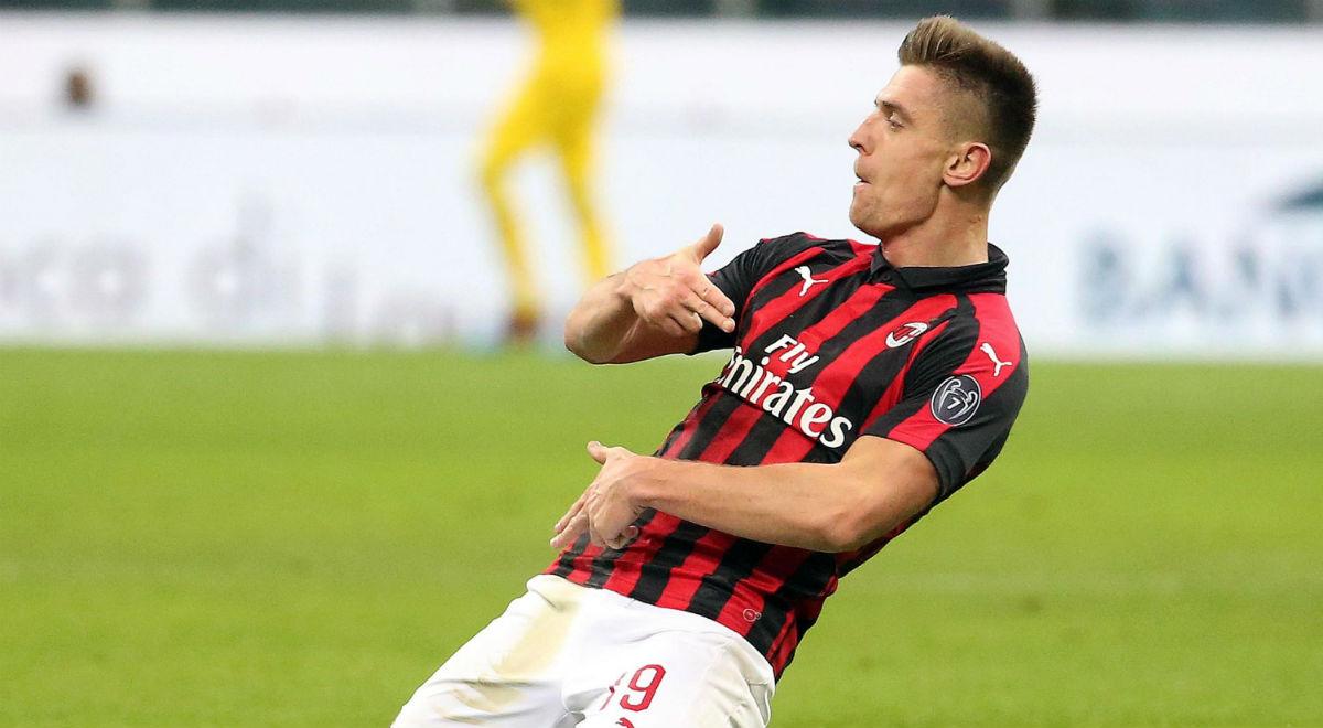 71a6dc0cc Puchar Włoch: AC Milan - Napoli. Krzysztof Piątek, czyli