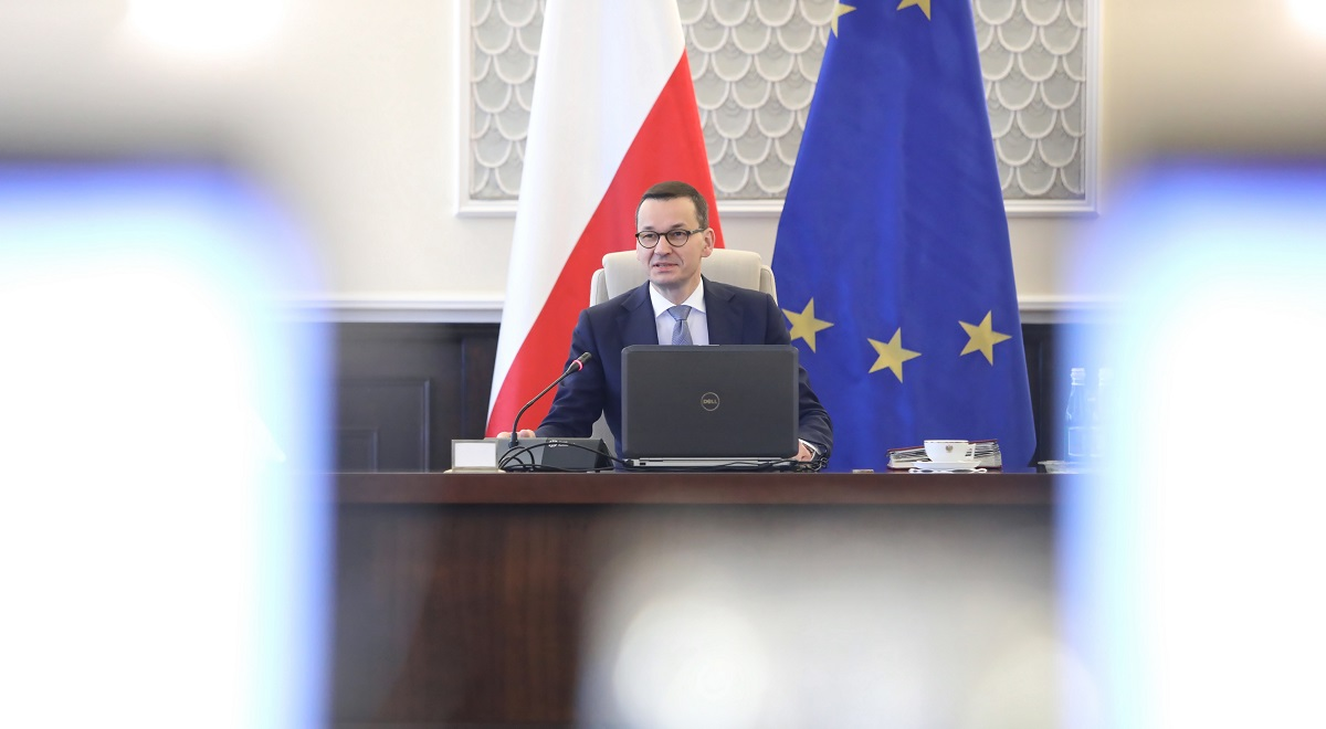 Polands Prime Minister Mateusz Morawiecki ahead of a meeting of his Cabinet earlier this year.