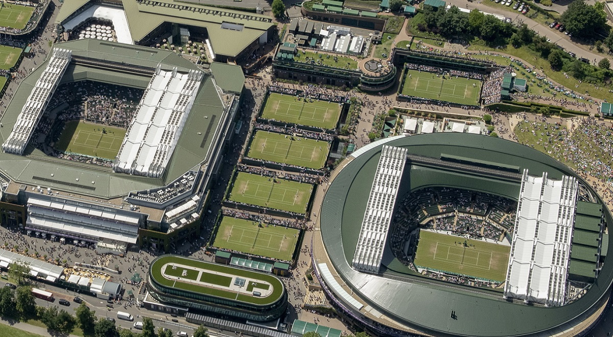 The All England Lawn Tennis Club grounds in Wimbledon, London
