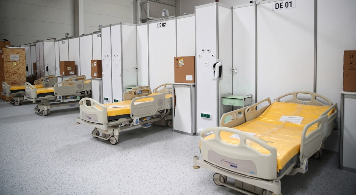 Coronavirus in Poland: A temporary hospital for COVID-19 patients in the southern city of Kraków.   Photo: PAP/Łukasz Gągulski