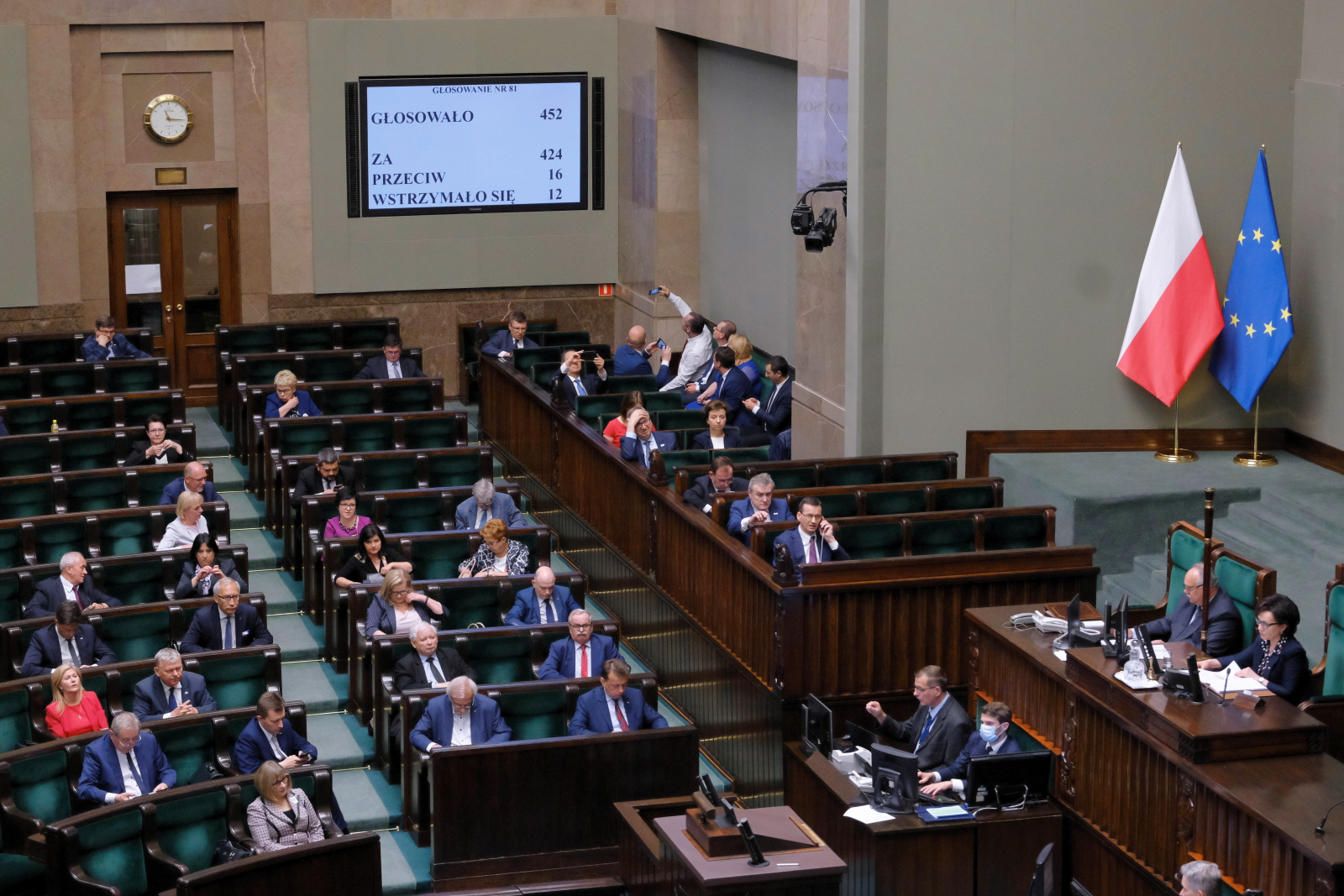 Warsaw, 19.06.2020. Polish MPs at the lower house of parliament, the Sejm, which approved a tourist voucher bill.