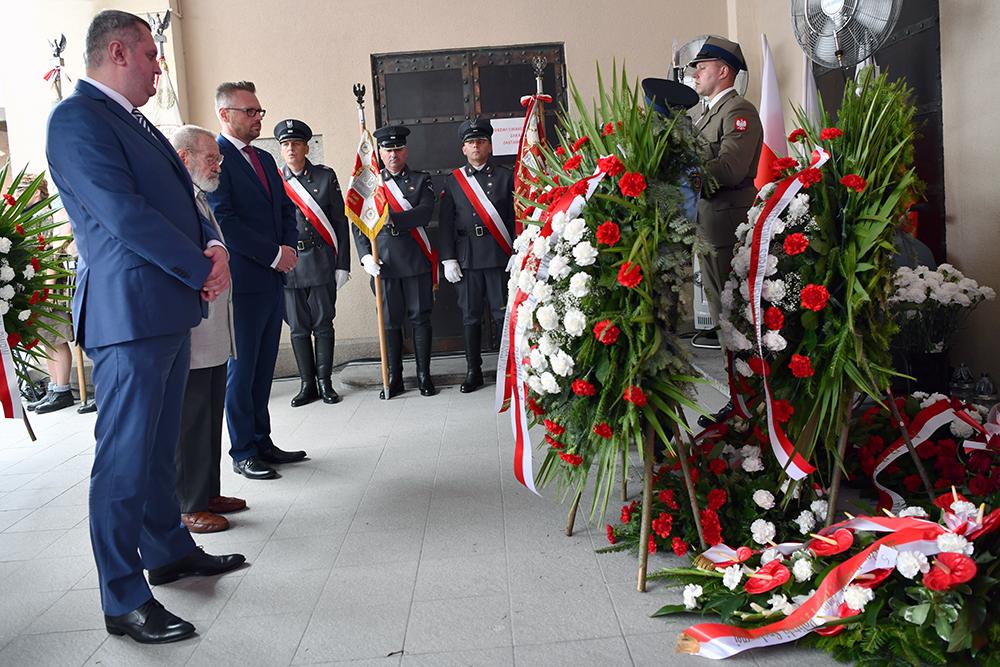 Мероприятия по случаю 75-й годовщины Варшавского восстания на польской фабрике по производству ценных бумаг в Варшаве