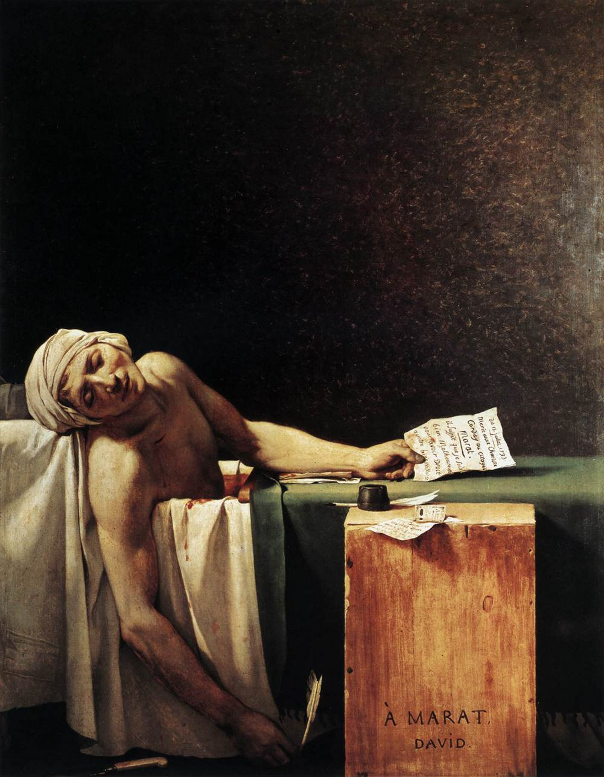 "Jacques-Louis David ""Śmierć Marata"""