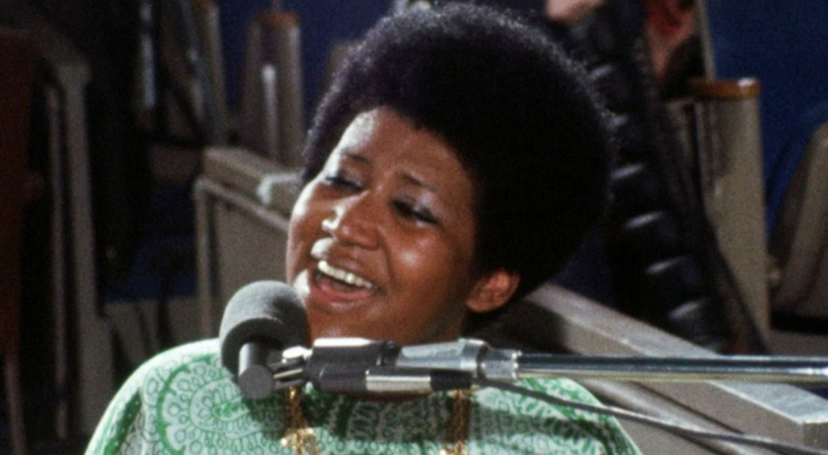 Aretha Franklin w filmie Amazing Grace