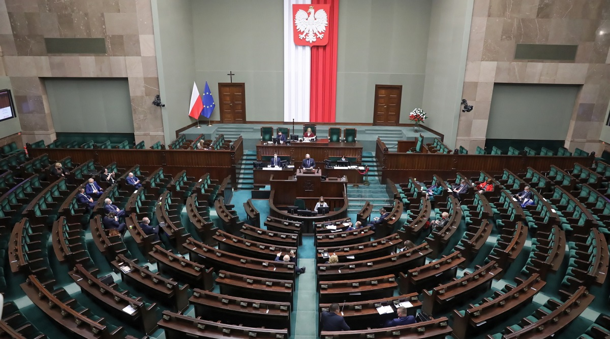 Polish deputies in parliament on Thursday.