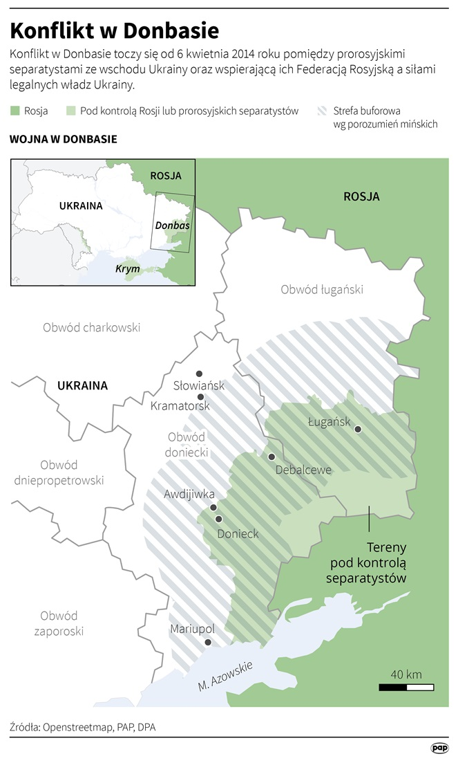 Konflikt na wschodzie Ukrainy (opr. Adam Ziemienowicz)