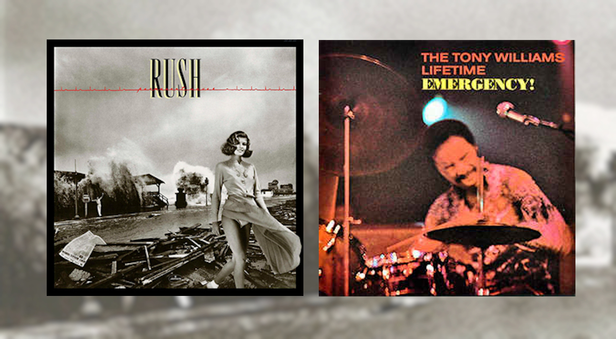 Okładki płyt: Rush Permanent Waves i The Tony Williams Lifetime - Emergency