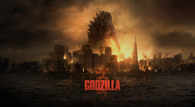 Plakat do filmu Godzilla, reż. Gareth Edwards