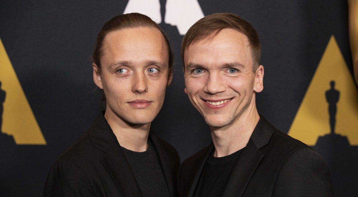 Polish actor Bartosz Bielenia and director Jan Komasa pose during Oscar Week at the Academy of Motion Picture Arts and Sciences in Beverly Hills, California, USA, on Thursday.