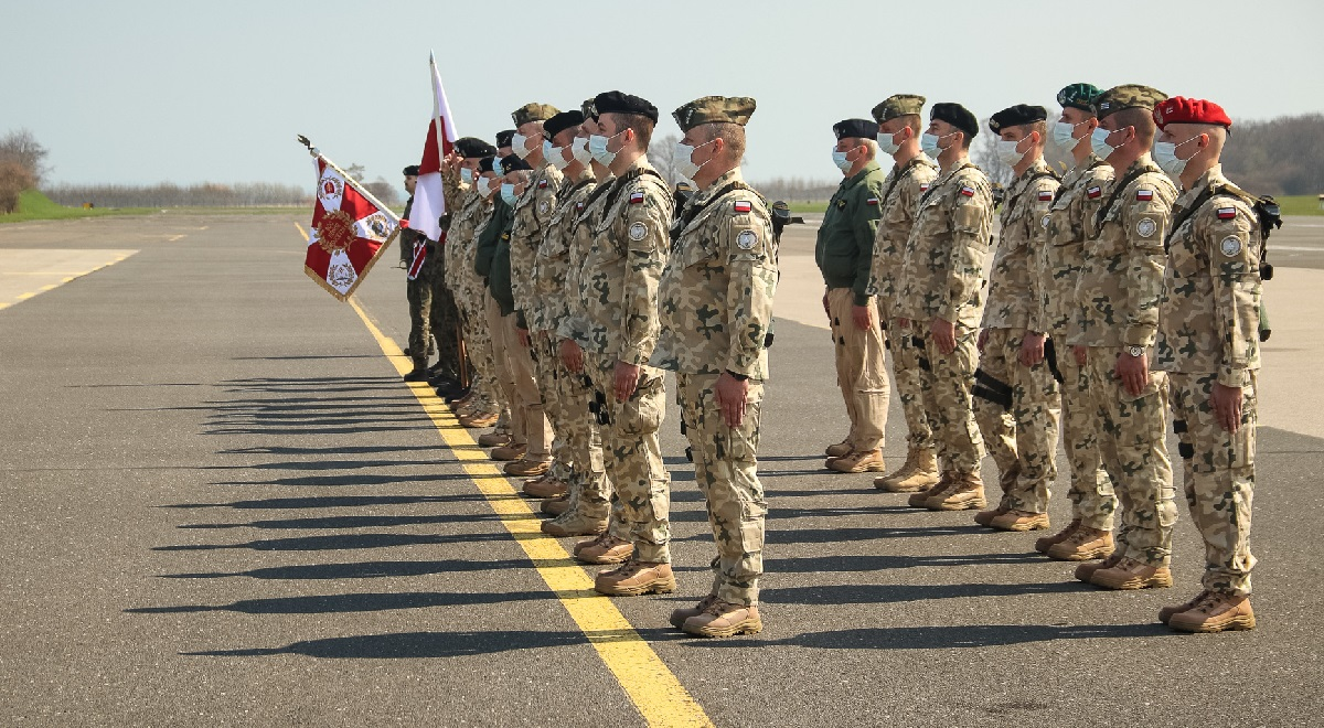 A send-off ceremony this week for Polish troops heading for Turkey on a NATO mission.