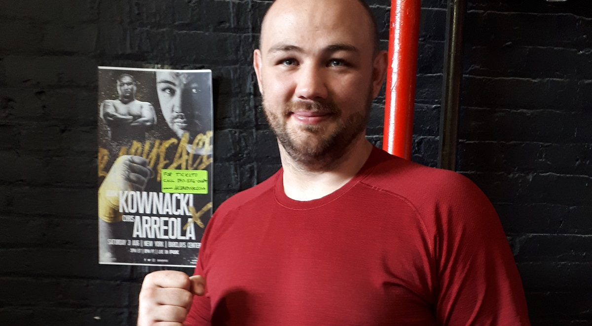 Boxer Adam Kownacki at the Iron Lion Performance gym in New York