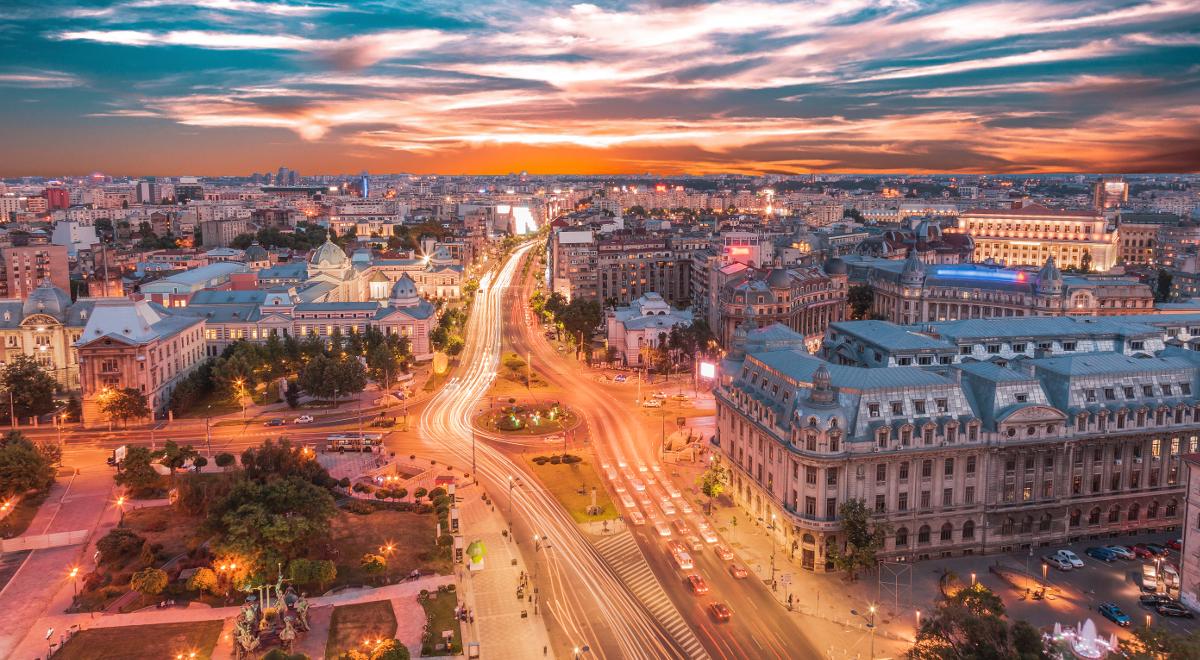 Vedere aeriană a centrului București