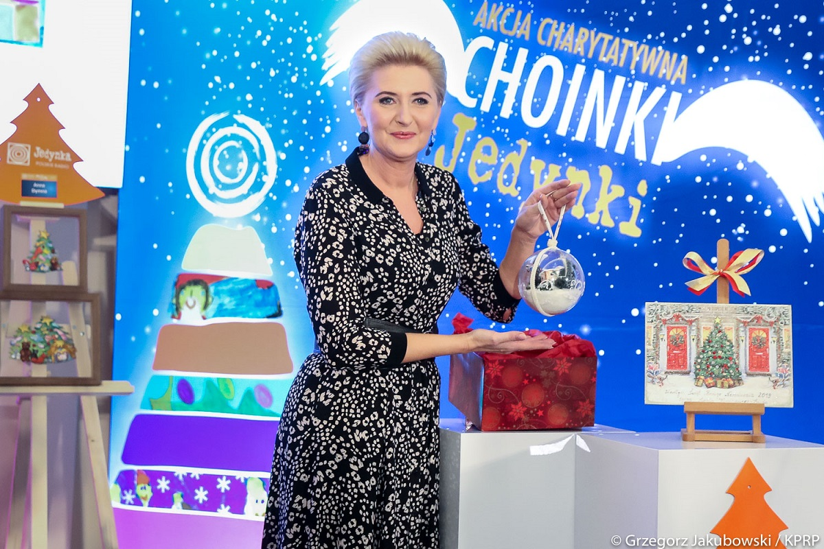 First Lady Agata Kornhauser-Duda attends Polish Radio's Choinki Jedynki event Dec 1'2019 Photo by Grzegorz Jakubowski KPRP.jpg