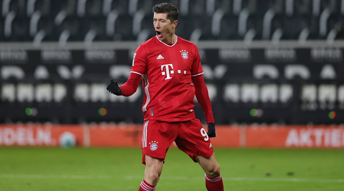Cause to celebrate: Robert Lewandowski.