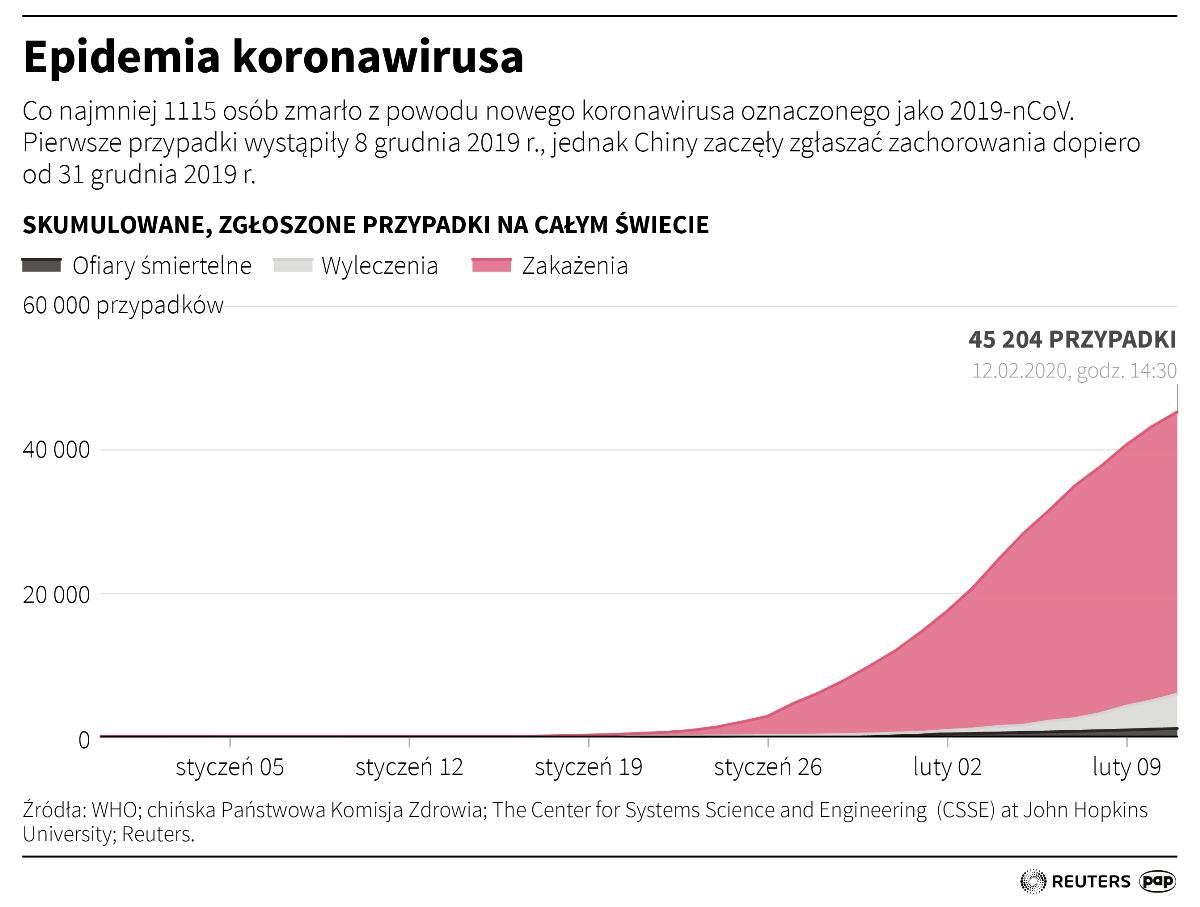 Epidemie koronawirusa na świecie (opr.  Adam Ziemienowicz)