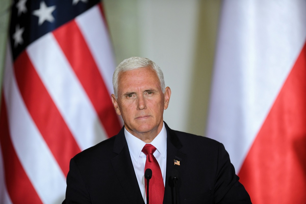 US Vice President Mike Pence at a press conference in Warsaw on September 2, 2019.