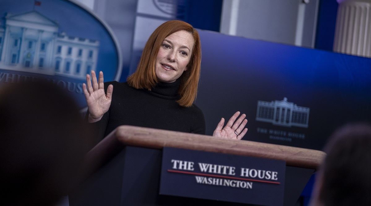 White House Press Secretary Jen Psaki briefs reporters on Tuesday.