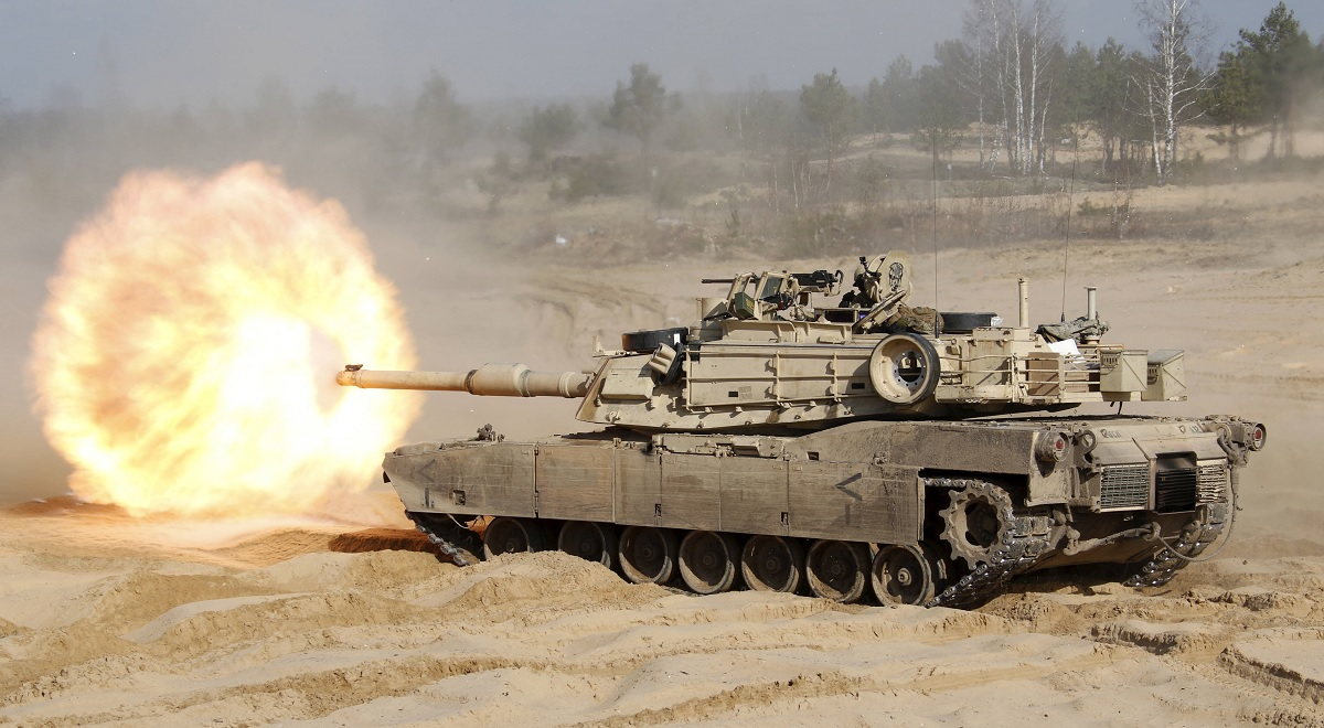 US M1A1 Abrams tank.