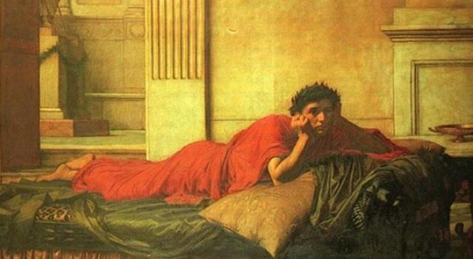 obraz Johna Williama Waterhousea The Remorse of the Emperor Nero after the Murder of his Mother