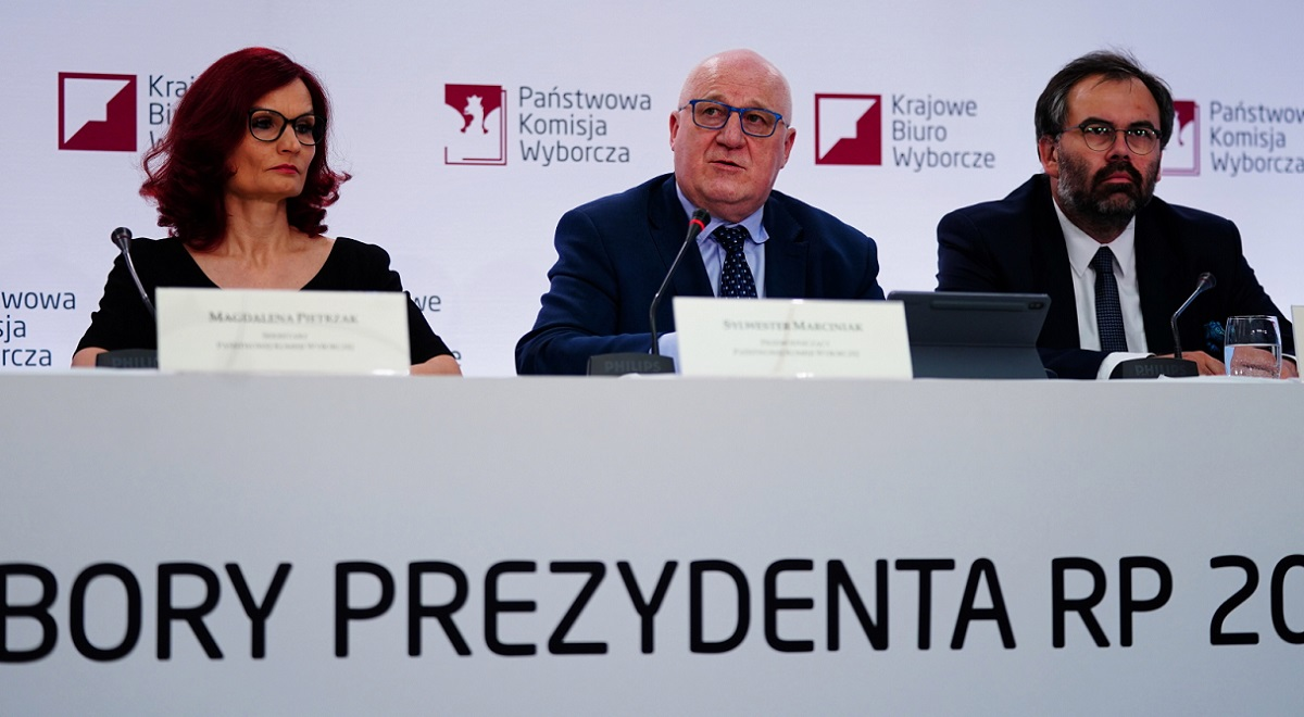 Members of Poland's National Electoral Commission (PKW). Photo: PAP/Mateusz Marek
